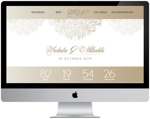 Wedding Website   Pistachio Designs